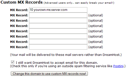 mx mail settings