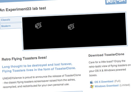 Retro Flying Toasters screensaver download