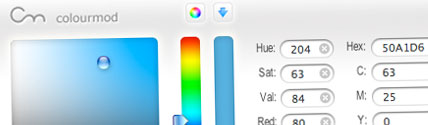 Screenshot of the ColourMod Dashboard widget