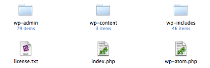 Downloaded WordPress directory