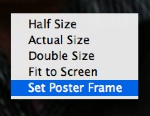 Set Poster Frame option