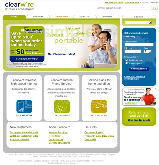 Cleawire.com - Homepage