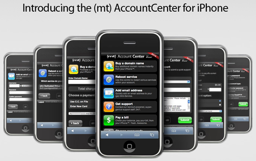 iPhone friendly Media Temple AccountCenter
