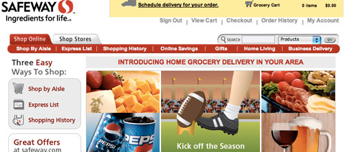 Safeway.com online grocery shopping
