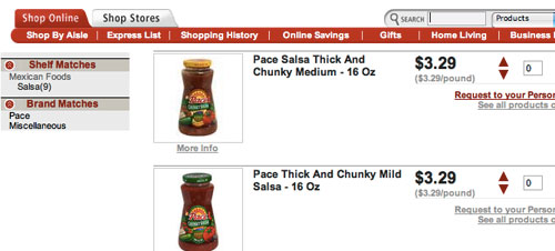 Shop for salsa