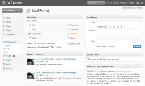Admin Dashboard screenshot