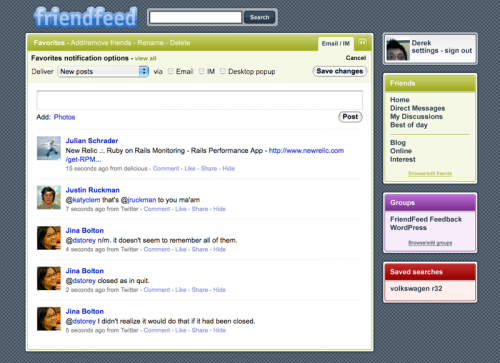 FriendFeed Sample